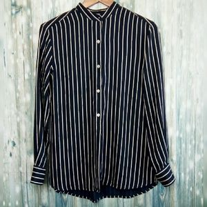 Lauren Ralph Lauren stripe silk button down